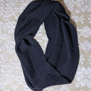 Zara black knit large cowl blanket winter scarf